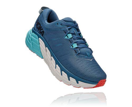 HOKA Men's Gaviota 3 Stability Running Shoes in Real Teal/Aquarelle - 1113520-RTAR