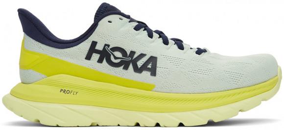 HOKA ONE ONE Mach 4 - Men's Running Shoes - Blue Flower / Citrus - 1113528-BFCT