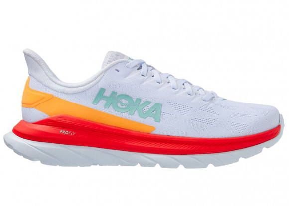 HOKA ONE ONE Mach 4 - Men's Running Shoes - White / Fiesta - 1113528-WFS