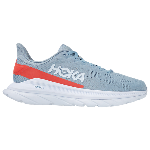 HOKA ONE ONE Mach 4 - Women's Running Shoes - Blue Fog / Hot Coral - 1113529-BFHC