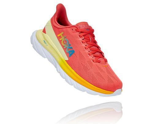 HOKA Women's Mach Shoes 4 in Hot Coral/Saffron, Size 6 - 1113529-HCSF