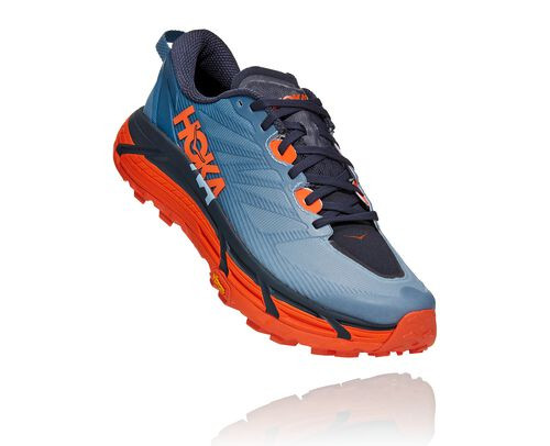 HOKA Mafate Speed 3 Chaussures de Trail pour Hommes en Provincial Blue/Carrot, taille 40 2/3 - 1113530-PBCT
