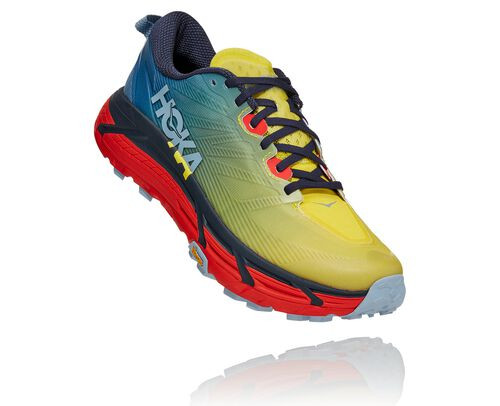 HOKA Mafate Speed 3 Chaussures de Trail pour Hommes en Provincial Blue/Fiesta, taille 40 2/3 - 1113530-PBFS