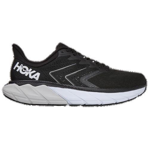 HOKA ONE ONE Arahi 5 - Men's Running Shoes - Black / White - 1115011-BWHT