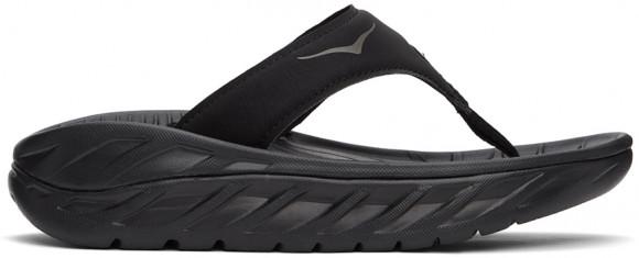HOKA Ora Recovery Flip Chaussures de Récupération pour Femmes en Black/Dark Gull Gray, taille 36 - 1117910-BDGGR