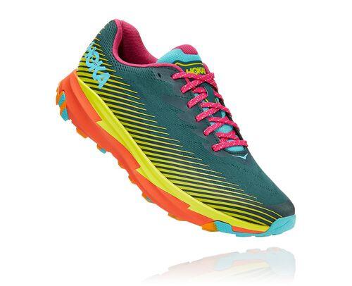 HOKA Torrent 2 X Cotopaxi Running Shoes in Mallard Green/Evening Primrose, Size 5 - 1118438-MGEP