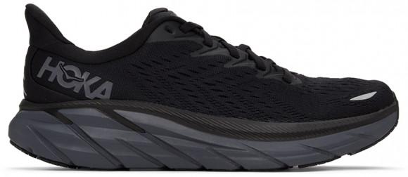 HOKA Men's Clifton 8 in Black/Black, Size 15.5 - 1119393-BBLC