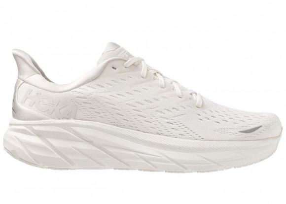 HOKA ONE ONE Clifton 8 - Women's Running Shoes - White / White - 1119394-WWH