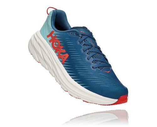 HOKA Women's Rincon 3 Shoes in Real Teal/Eggshell Blue - 1119396-RTEB