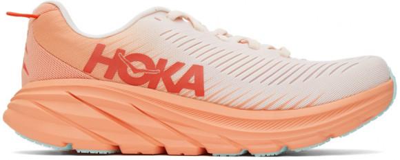 HOKA Women's Rincon 3 Shoes in Silver Peony/Cantaloupe - 1119396-SPCN