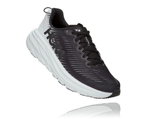 HOKA Women's Rincon 3 Shoes in Black/White - 1119396