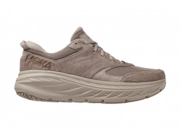 Hoka X Engineered Garments Bondi L Running Shoes in Simply Taupe Cow Hair - 1127734-STCH