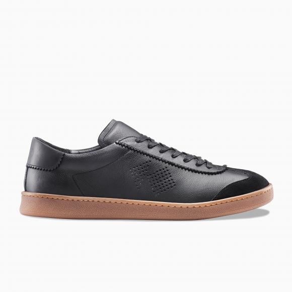 KOIO Men's Low Top Tempo Nero Black Leather Suede Tempo 10 (US) / 43 (EU) - 1135230976036