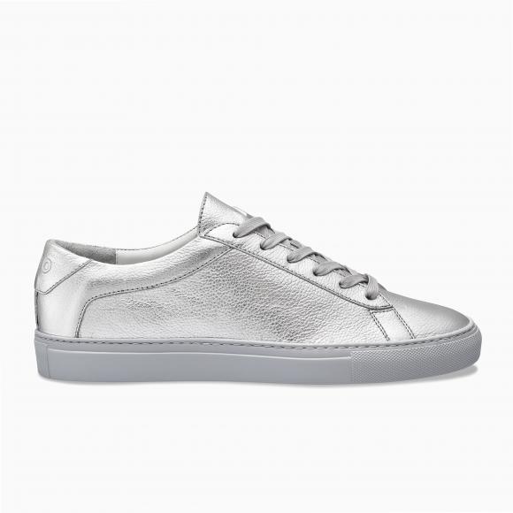 KOIO Men's Low Top Sterling Silver Leather Capri 10 (US) / 43 (EU) - 1138039980068