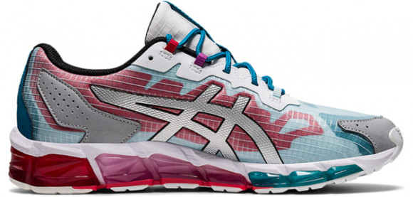 Asics Gel Quantum 360 6 'Teal Blue Red' Classic Red/Teal Blue Marathon Running Shoes/Sneakers 1201A113-600 - 1201A113-600