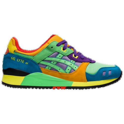 ASICS Tiger GEL-Lyte III - Men's Running Shoes - Green / Blue ...