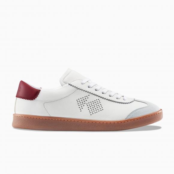 KOIO Women's Tempo Bianco White Grey Red Leather Suede Tempo 7 (US) / 37 (EU) - 1349084151844