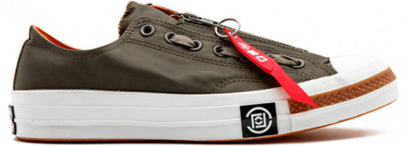 Converse Undefeated x Clot x Chuck 70 Ox 'Bronze Green' Bronze Green/Red/White Canvas Shoes/Sneakers 141754C - 141754C