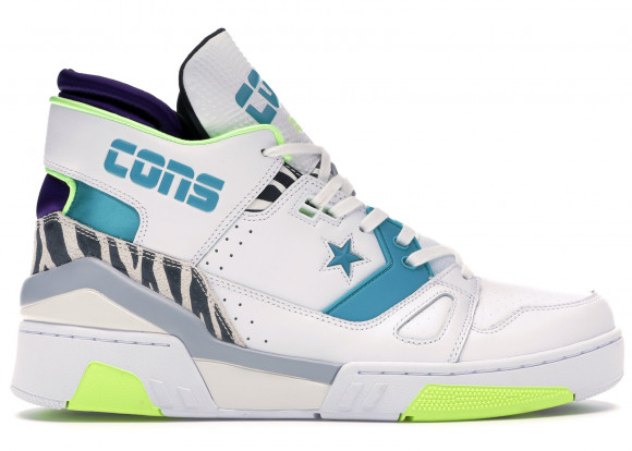 Converse x Don C ERX 260 Mid White/ Rapid Teal/ Court Purple - 163783C