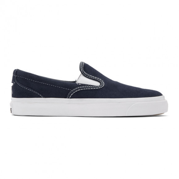 Converse Navy Suede One Star CC Slip-On Sneakers - 164156C