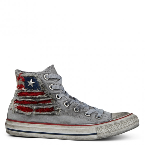 Unisex Distressed Americana Chuck Taylor All Star High Top - 167389C