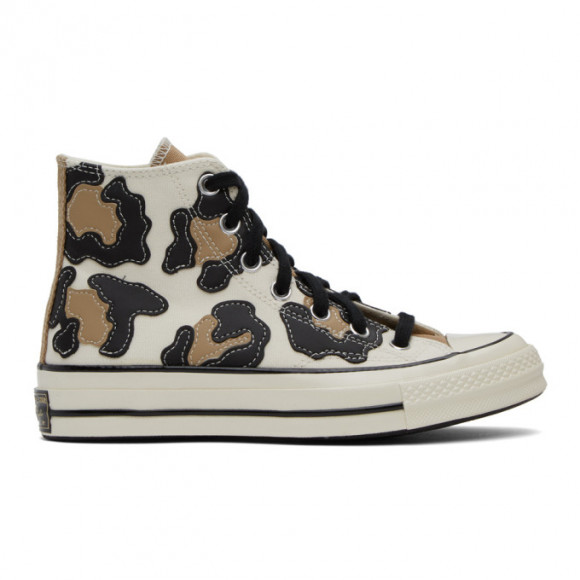 Converse Off-White and Tan Chuck 70 High Sneakers - 168904C