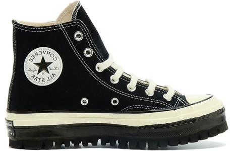 Converse Chuck 70 Canvas Trek LDT HI Black Canvas Shoes/Sneakers 169144C - 169144C