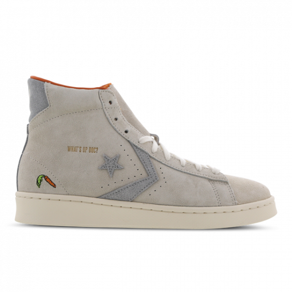 Converse Grey and Off-White Looney Tunes Edition Pro Leather High Sneakers - 169223C