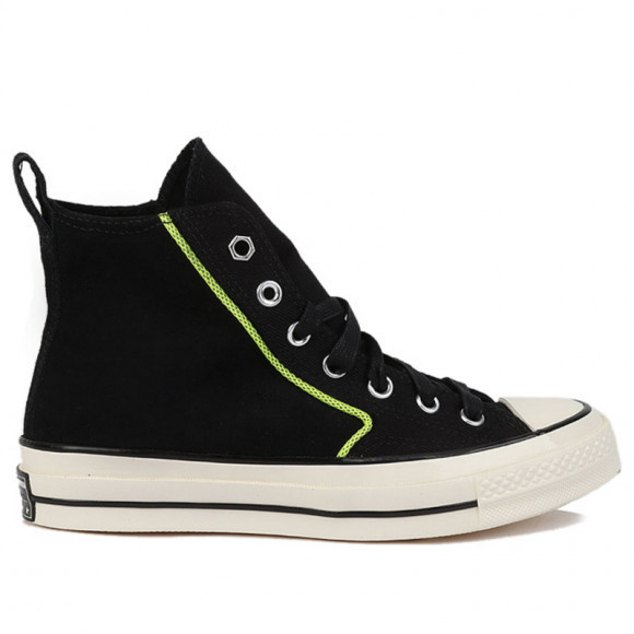 Converse Chuck 70 High 'Workwear Twill - Black Lemon' Black/Lakeside Blue Canvas Shoes/Sneakers 169372C - 169372C