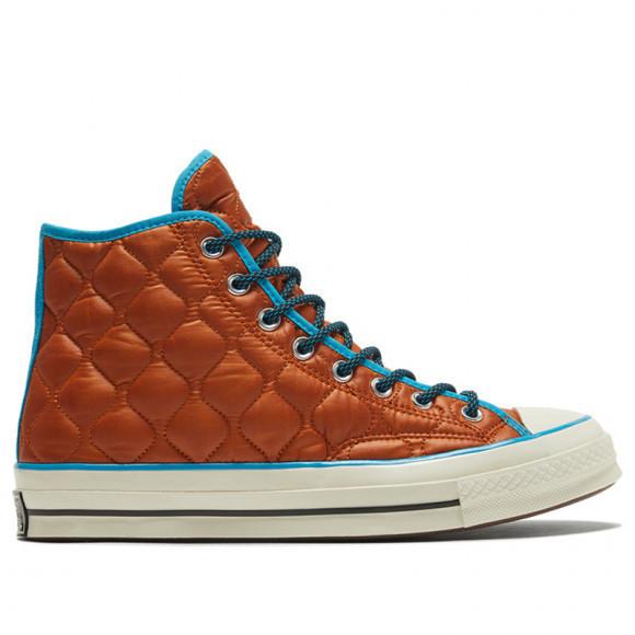 Converse Chuck 70 High 'Workwear Quilting - Amber' Amber Sepia/Sail Blue/Egret Canvas Shoes/Sneakers 169374C - 169374C
