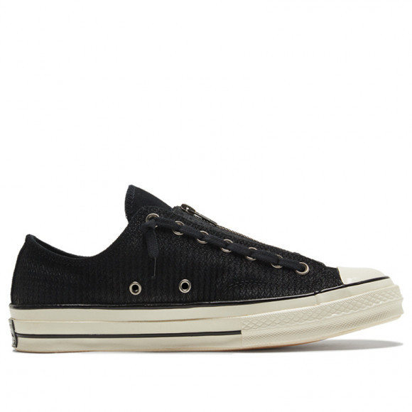 Converse Chuck 70 Zip Low 'Embossed Suede - Black Egret' Black/Egret/Black Canvas Shoes/Sneakers 169441C - 169441C