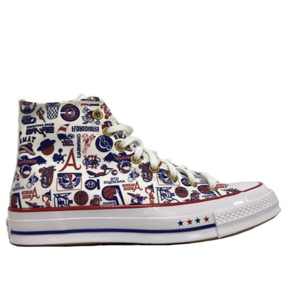 Converse Chuck 70 High 'ABA' White/Enamel Red/Rush Blue Canvas Shoes/Sneakers 169650C - 169650C