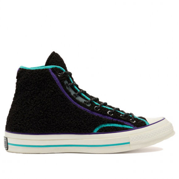 Converse Chuck 70 High 'Retro Sherpa' Black/Court Purple/Egret Canvas Shoes/Sneakers 169784C - 169784C