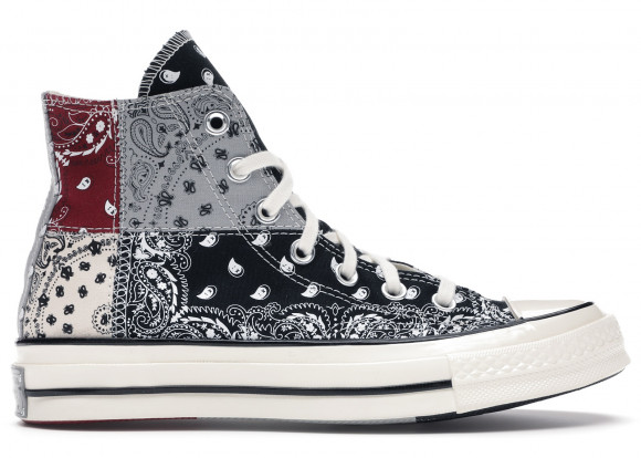 Converse Offspring x Chuck 70 High 'Paisley Patchwork' Black/Egret/Multi-Color Canvas Shoes/Sneakers 169880C - 169880C