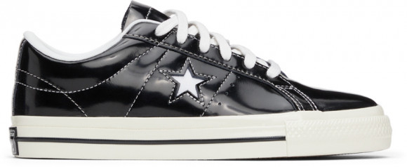 Converse Black Patent One Star OX Sneakers - 171588C