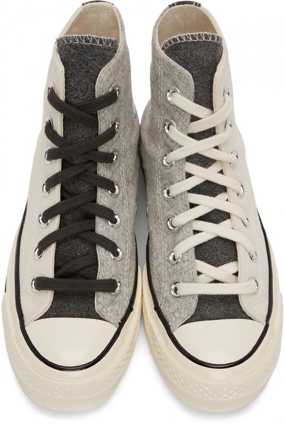 Converse SSENSE Exclusive Off-White & Grey Chuck 70 Hi Sneakers - 171863C