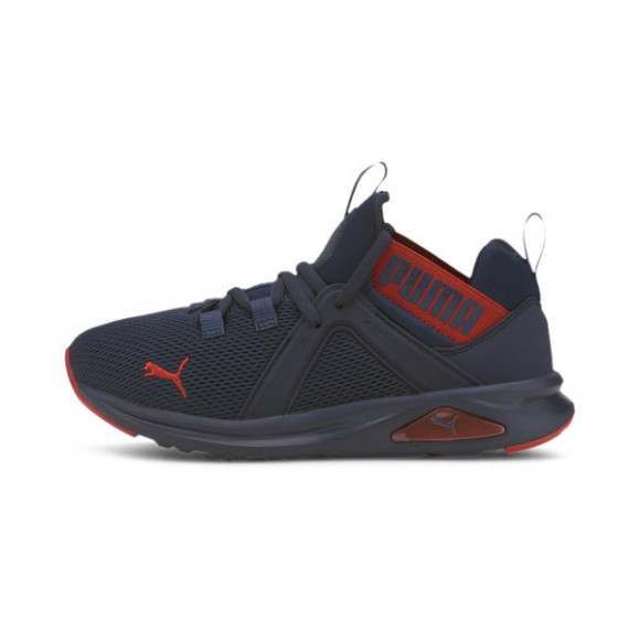 PUMA Enzo 2 Weave Boys' Training Shoes JR in Peacoat/High Risk Red - 193165-08