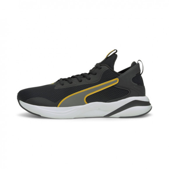 PUMA SoftRide Rift Men's Running Shoes in Black/Mineral Yellow - 193733-12