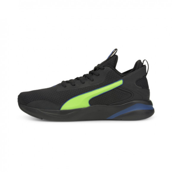 PUMA SoftRide Rift Tech Men's Running Shoes in Black/Green Glare - 193737-11