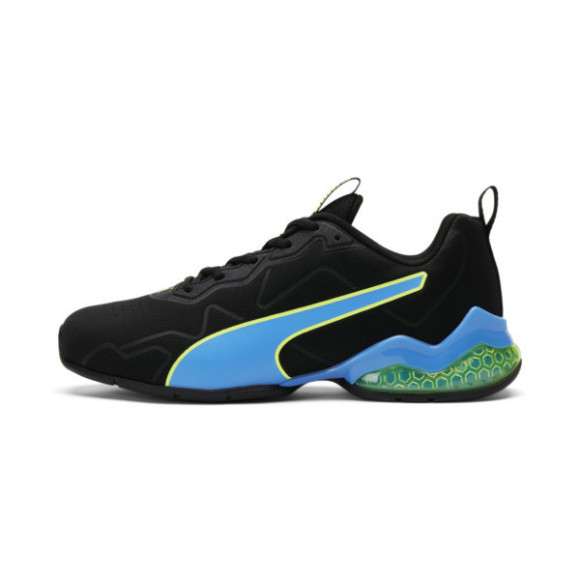 PUMA CELL Valiant Men's Training Shoes in Black/Nrgy Blu/Fizzy Yellow - 194073-07