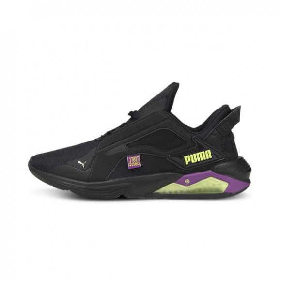 PUMA x FIRST MILE LQDCELL Method Women's Training Shoes in Black/Byzantium/Fluo Yellow - 194438-01