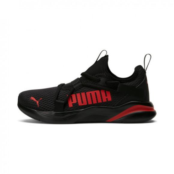 PUMA SoftRide Rift Pop Sneakers JR in Black/High Risk Red - 194773-05
