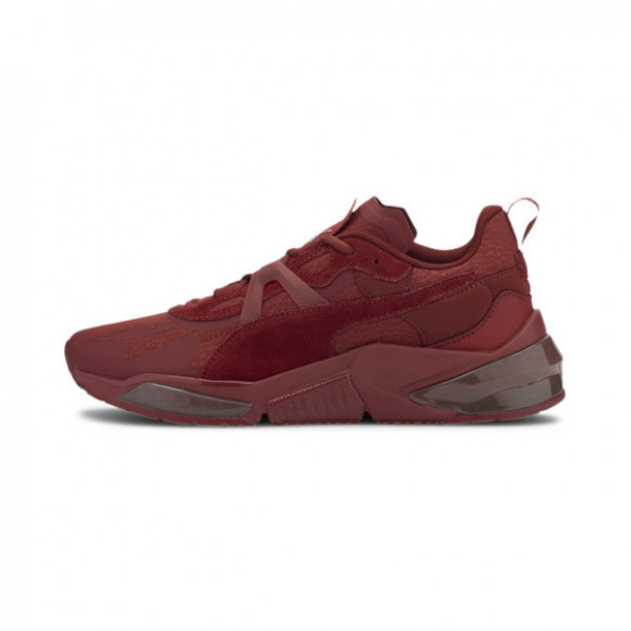 PUMA x FIRST MILE LQDCELL Optic Mono Running Shoes JR in Red Dahlia/Metallic Silver - 194808-02