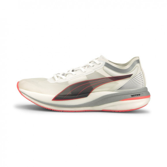 PUMA Deviate NITRO ELITE Men's Running Shoes in White/Lava Blast - 195204-02