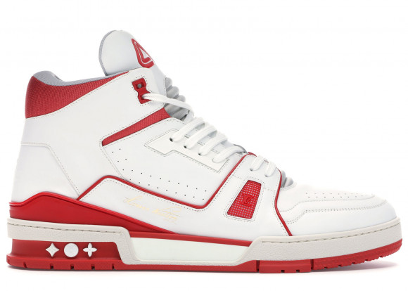 Louis Vuitton LV Trainer Sneaker Mid White Red - 1A54IA