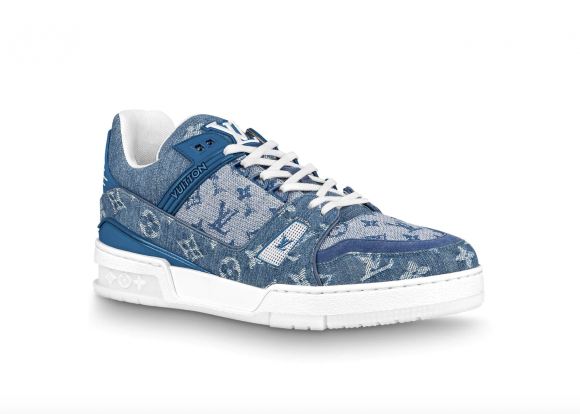Louis Vuitton Trainer Sneaker Denim Monogram - 1A7S51