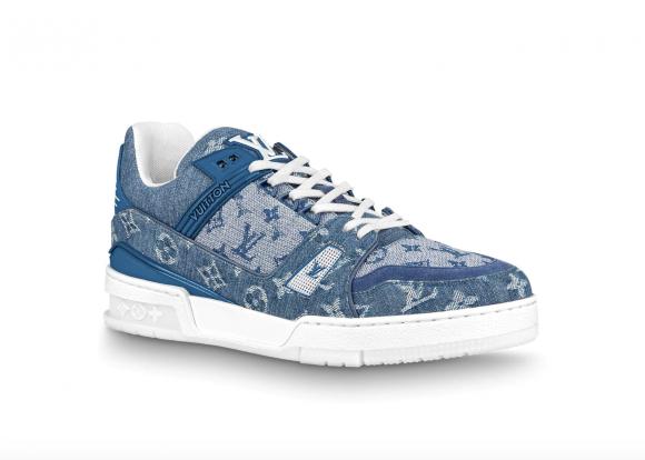 Louis Vuitton Trainer Sneaker Denim Monogram - 1A7S53