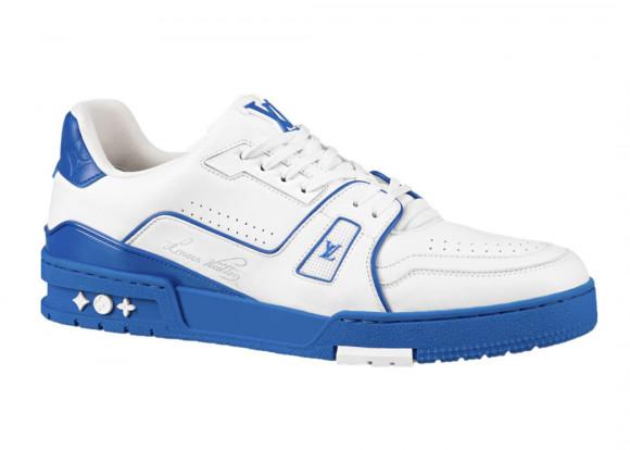 Louis Vuitton Trainer White Blue Signature - 1A8SJV