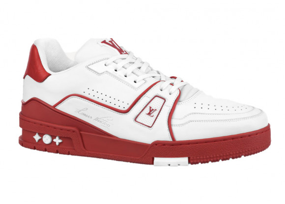 Louis Vuitton Trainer White Red Signature - 1A8SKD