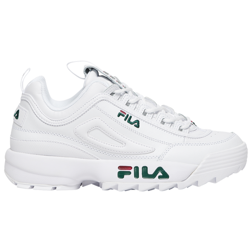 Fila Disruptor II - Men's Training Shoes - White / Green / Red - 1FM00701-124